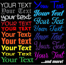 "8"" Custom Text Decal Your custom and Text Font Decal Sticker Your Text Here"