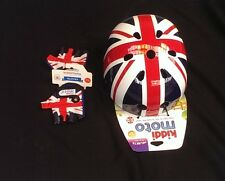 Kiddimoto Union jack casque & gants childs kids bike scooter skate bmx cycle