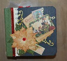 Handcrafted Mini Scrapbook 6 x 6 Graphic 45 Christmas Emporium
