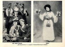 """""""Alt- Heidelbera"""" in Japan Erstaufführung in Tokio Das Korps Saxonia Käthie 1913"""