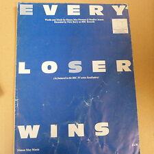 songsheet EVERY LOOSER WINS Nick Berry , East Enders 1986