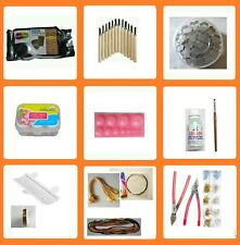 40 pcs Terracotta kit jewelry making tools kit-500 gms Brown clay,beads maker