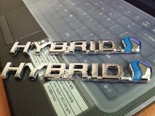 2PCS New 3D HYBRID Car Front Rear Fender Tailgate Chrome Emblem Badge Decal Logo