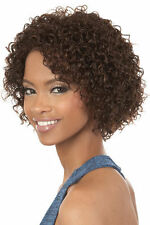 Motown Tress NE1 MARCH Human Hair Blend Wig Short Tight Curly Page #4 Brown