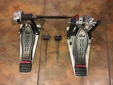 DW 9000 Double Bass Drum Kick Pedal w/ Demon Drive Beaters