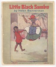 1920s LITTLE BLACK SAMBO Helen Bannerman RARE Black Americana CHILDREN'S Linen