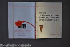 Pubblicità Catalogo Profumi Profumeria Bellezza Sapone Creme Cipria Fatma 1933