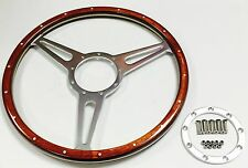 "Classic Derrington Wood 15""  steering wheel compatible with Moto-lita Boss ."