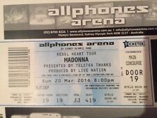 Madonna Rebel Heart Tour ticket x 1 Sun 20 Mar 2016 PLATINUM