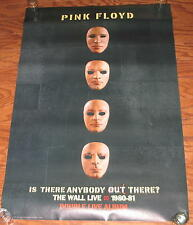 Orig. 2000 PINK FLOYD - ANYBODY OUT THERE / THE WALL LIVE Promo Poster - 2-Sided