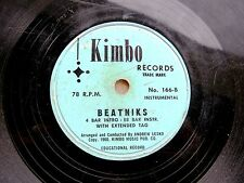 BEATNIKS jazz dance 78 by LYNN ROBERTS (vocal)/ANDREW LESKO (instrumental) KIMBO