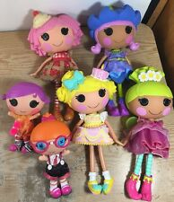 LALALOOPSY Lot of 6 Dolls 4 Full Size 2 Littles All Fully Dressed A
