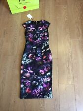 BNWT and Bag❤Ted Baker RAISIE Shadow Flora Bodycon Dress SIZE 2 (UK 10) RRP £159