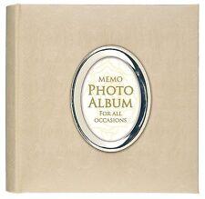 """Luxury Satin Rose Effect Cream  Photo Album with Aperture 200 6 x 4 """""""