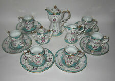 LIMOGES CHINA, MINIATURE, CHOCOLATE,TEA, COFFEE, MOCHA SET