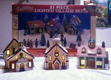 Lot of 3 Lemax Dickensvale Lighted Village Town Church original box HOUSES ONLY