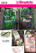 Simplicity Auto Organizer Sewing Pattern Tote Bag Car Baby diaper bag tote  2916
