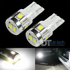 2X T10 6000K White High Power 2538 Chip SMD LED Interior Lights Bulbs