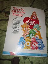 """The Care Bears 1985 VHS promo poster 24x18"""" SCARCE Land Without Feelings"""