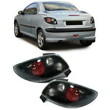 BLACK REAR TAIL LIGHTS FOR PEUGEOT 206 CC 206CC COUPE CABRIO 1998-2006 NICE GIFT