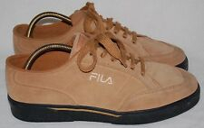 RETRO FILA TAN BROWN URBAN WAVEY FESTIVAL CANVAS TRAINERS SHOES PUMPS UK 9