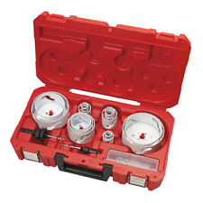18 Pc Master Plumbers Hole Dozer Hole Saw Kit Milwaukee 49-22-4155 New