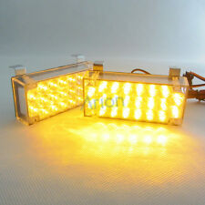 2x 22 LED Amber Tow Truck Car Grille Strobe Light 44 LEDS Flash Emergency Lights