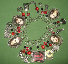 """VAMPIRE DIARIES""-  ALTERED ART STATEMENT  CHARM BRACELET"
