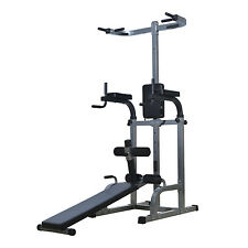 Home Gym Workout Strength Fitness Training Power Tower Dip Station Weight Bench