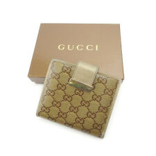 Auth Gucci W Hock Wallet Crystal GG unisexused G881