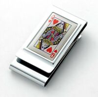 Deluxe Money Clips Double Sided Secure Front Pocket Wallet Chrome 8 Styles Boxed