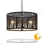 Deckenlampe Natura | Wald | Ø40cm | Designer Hängeleuchte | 3X E27 | Milchglas