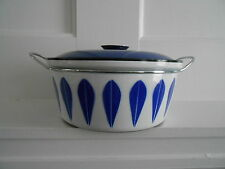 Vintage MCM Catherine Holm Enamel LOTUS Dutch Oven Excellent Condition 10.5 in.