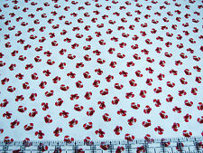 3 Yards Cotton Fabric - Timeless Treasures Ocean Sea Crabs Red Mini White