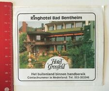 Aufkleber/Sticker: Ringhotel Bad Bentheim - Hotel Grossfeld (200516135)