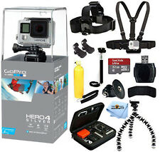 GoPro HERO4 Silver Edition With 32GB Sandisk 12 Piece All you Need Bundle! New!