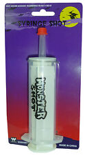 HALLOWEEN MONSTER SYRINGE DOCTOR/ NURSE FANCY DRESS PARTY FAKE BLOOD ACCESSORY
