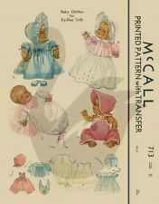 Reproduction Vintage Dy-Dee Doll Clothes Sewing Pattern M713