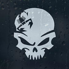 Skorpion Skull Car Decal Vinyl Sticker For Bumper Window Panel