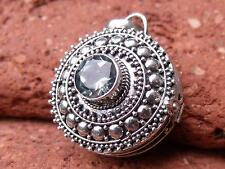 BLUE TOPAZ 925 SILVER PRAYER BOX PENDANT SILVERANDSOUL HANDCRAFTED JEWELLERY