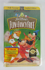 NEW - Walt Disney Masterpiece Fun and Fancy Free (VHS,1997) 50th Anniversary