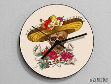 Mexican Sugar Skull - Day of the Dead -Dia de Los Muertos - Calavera -Wall Clock