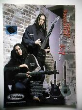 PUBLICITE-ADVERTISING :  Guitare IBANEZ Seven String K7  09/2001 Head,Munky,Korn