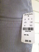 ☀️NWT $89.50 Brooks Brothers Striped Casual Chino Pants Flat-Front ~Men's 34x30