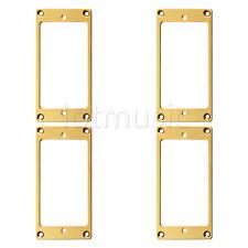 4pcs Flat Metal Humbucker Pickup Mounting Ring - Gold