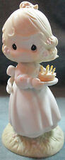 "1990 Precious Moments ""May Your Birthday Be A Blessing"" 6"" High Figure"