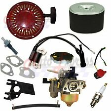 NEW HONDA GX160 RECOIL CARBURETOR IGNITION COIL SPARK PLUG AIR FILTER GAS CAP