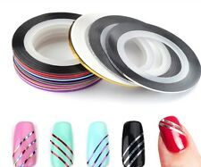 Looks United 10 X Mixed Color Nail Art Striping Rolls Tape Nail Sticker
