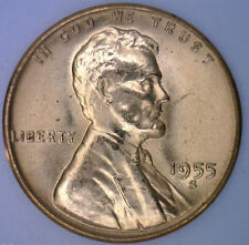1955 S Uncirculated Copper Lincoln Wheat Cent BU Penny One Cent Coin