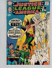 Justice League of America 72 with Hawkman & Hawkgirl!  1969 VF Last 12 cent!
